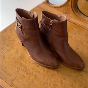 Louise et Cie leather ankle boots brass trim